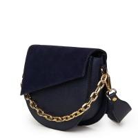 Дамска чанта Donna от естествена кожа, тъмносиня