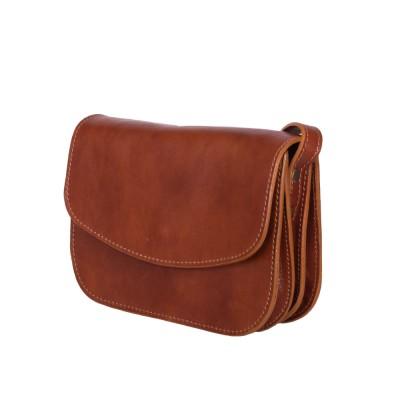 Чанта тип портмоне от естествена кожа Letizia, коняк