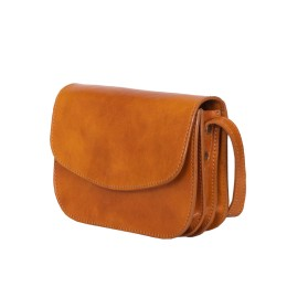 Чантата тип портмоне от естествена кожа Letizia, жълта