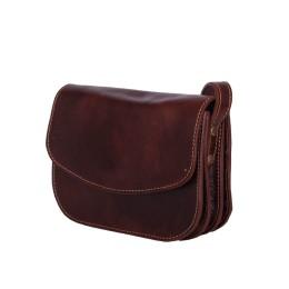 Чантата тип портмоне от естествена кожа Letizia, кафява