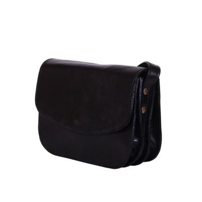 Чантата тип портмоне от естествена кожа Letizia, черна