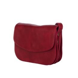 Чантата тип портмоне от естествена кожа Letizia, червена