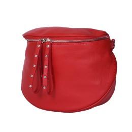 Дамска чанта тип портмоне от естествена кожа Siena, червена