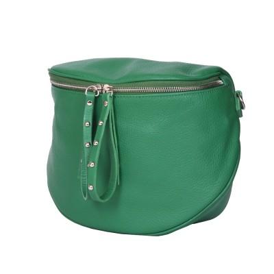 Дамска чанта тип портмоне от естествена кожа Siena, зелена