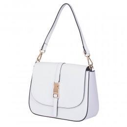 Чанта тип портмоне от естествена кожа Aretha, бяла