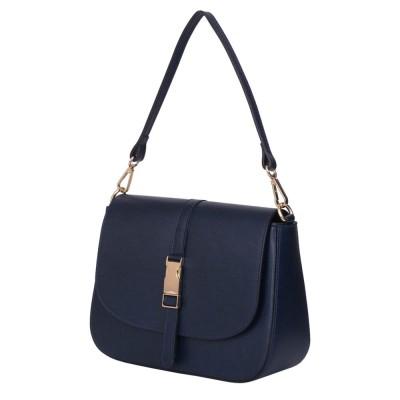 Чантата тип портмоне от естествена кожа Aretha, тъмносиня