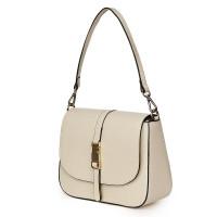 Чанта тип портмоне от естествена кожа Aretha, светло бежова
