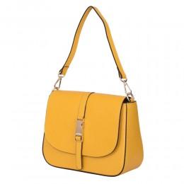 Чантата тип портмоне от естествена кожа Aretha, жълта