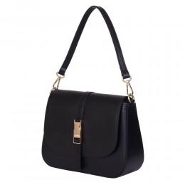 Чантата тип портмоне от естествена кожа Aretha, черна