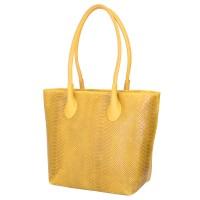 Чантата тип портмоне от естествена кожа Ava, жълта