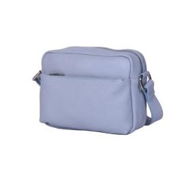 Ежедневна чанта тип портмоне от естествена кожа Azzurra, синя