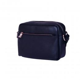 Ежедневна чанта тип портмоне от естествена кожа Azzurra, тъмносиня