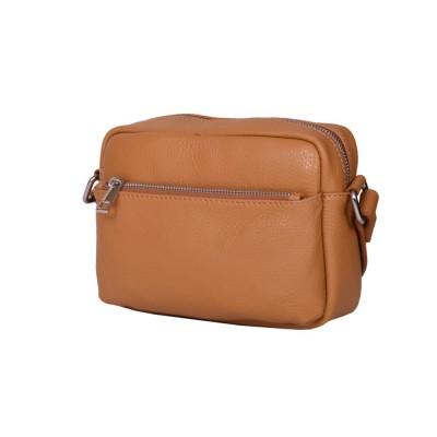 Ежедневна чанта тип портмоне от естествена кожа Azzurra, коняк