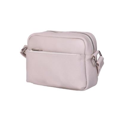 Ежедневна чанта тип портмоне от естествена кожа Azzurra, бежова