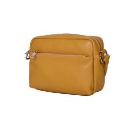 Ежедневна чанта тип портмоне от естествена кожа Azzurra, жълта