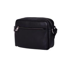 Ежедневна чанта тип портмоне от естествена кожа Azzurra, черна
