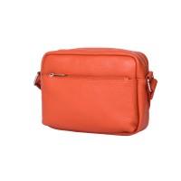 Ежедневна чанта тип портмоне от естествена кожа Azzurra, оранжева