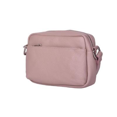 Ежедневна чанта тип портмоне от естествена кожа Azzurra, розова