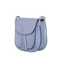 Дамска чанта тип портмоне от естествена кожа Chiara, светлосиня