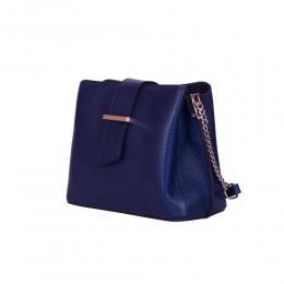 Кожена чанта тип портмоне Avery, синя
