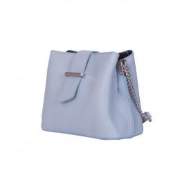 Кожена чанта тип портмоне Avery, светлосиня