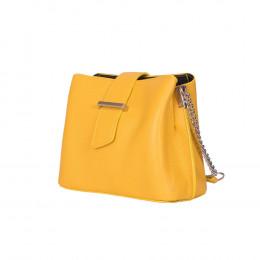 Кожена чанта тип портмоне Avery, жълта