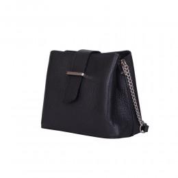 Кожена чанта тип портмоне Avery, черна