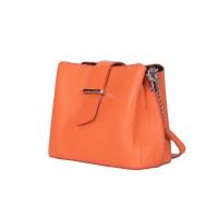 Кожена чанта тип портмоне Avery, оранжева