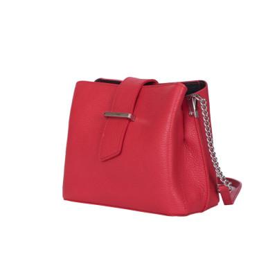 Кожена чанта тип портмоне Avery, червена