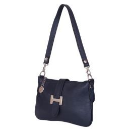 Чантата тип портмоне от естествена кожа Helen, тъмносиня