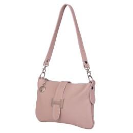 Чантата тип портмоне от естествена кожа Helen, розова