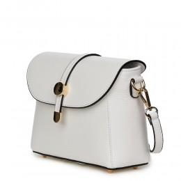 Дамска чанта от естествена кожа Laguna, бяла