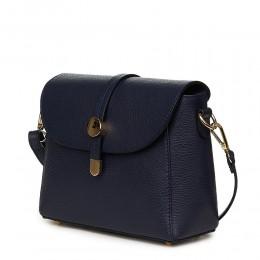 Дамска чанта от естествена кожа Laguna, тъмносиня