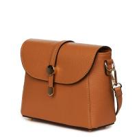 Дамска чанта от естествена кожа Laguna, коняк