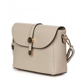 Дамска чанта от естествена кожа Laguna, светло бежова