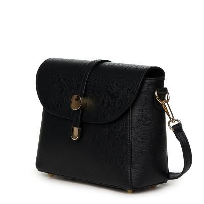 Дамска чанта от естествена кожа Laguna, черна