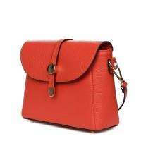 Дамска чанта от естествена кожа Laguna, оранжева