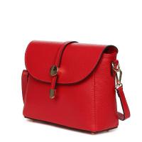 Дамска чанта от естествена кожа Laguna, червена