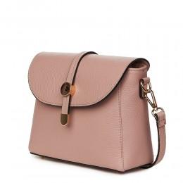 Дамска чанта от естествена кожа Laguna, розова