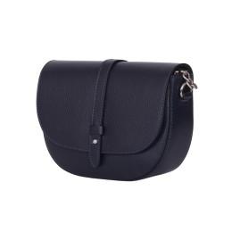 Чантата тип портмоне от естествена кожа Larisa, тъмносиня