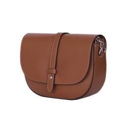 Чантата тип портмоне от естествена кожа Larisa, коняк