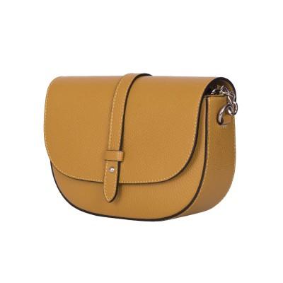 Чантата тип портмоне от естествена кожа Larisa, жълта