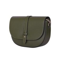 Чантата тип портмоне от естествена кожа Larisa, зелена