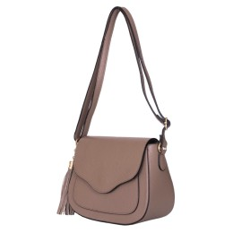 Чанта тип портмоне от естествена кожа Martina, бежова