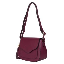 Чантата тип портмоне от естествена кожа Martina, тъмночервена