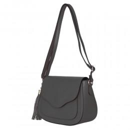 Чантата тип портмоне от естествена кожа Martina, сива
