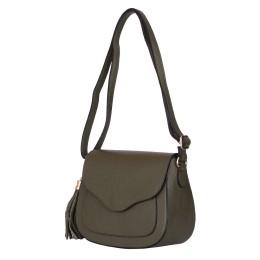 Чантата тип портмоне от естествена кожа Martina, зелена