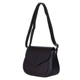 Чантата тип портмоне от естествена кожа Martina, черна