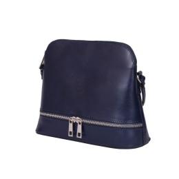 Кожена дамска чанта тип портмоне мини Maya, тъмносиня