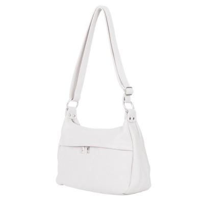 Чанта тип портмоне от естествена кожа Amelia, бяла